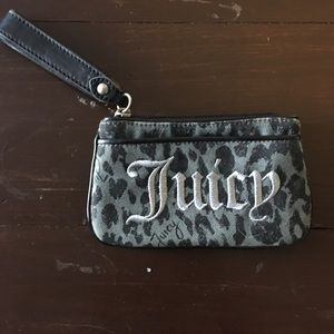 Super fun Juicy Couture leopard print wristlet